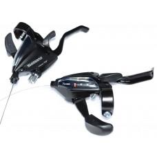Моноблоки Shimano ST-EF-500 3/7 черн комплект тормозные ручки/шифтер