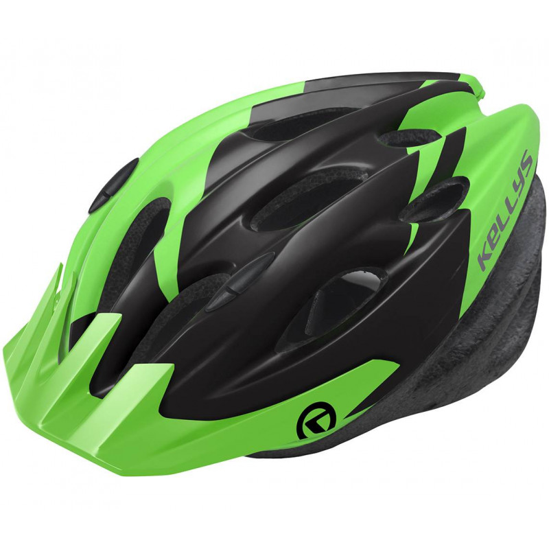 Шлем Kellys KLS Blaze 18 матовий/зелёный