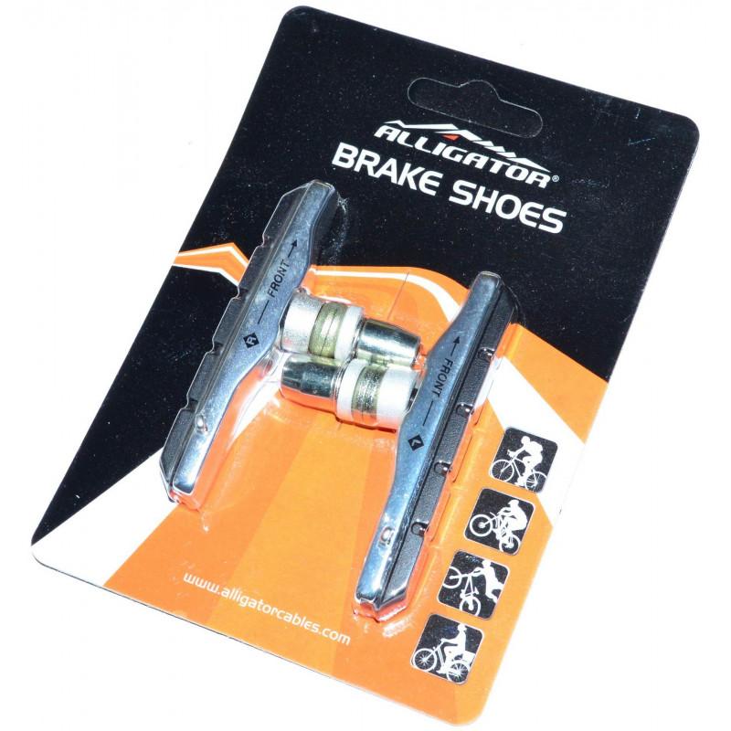 Колодки тормозные Alligator VB-600 картриджные для V-Brake серебристые