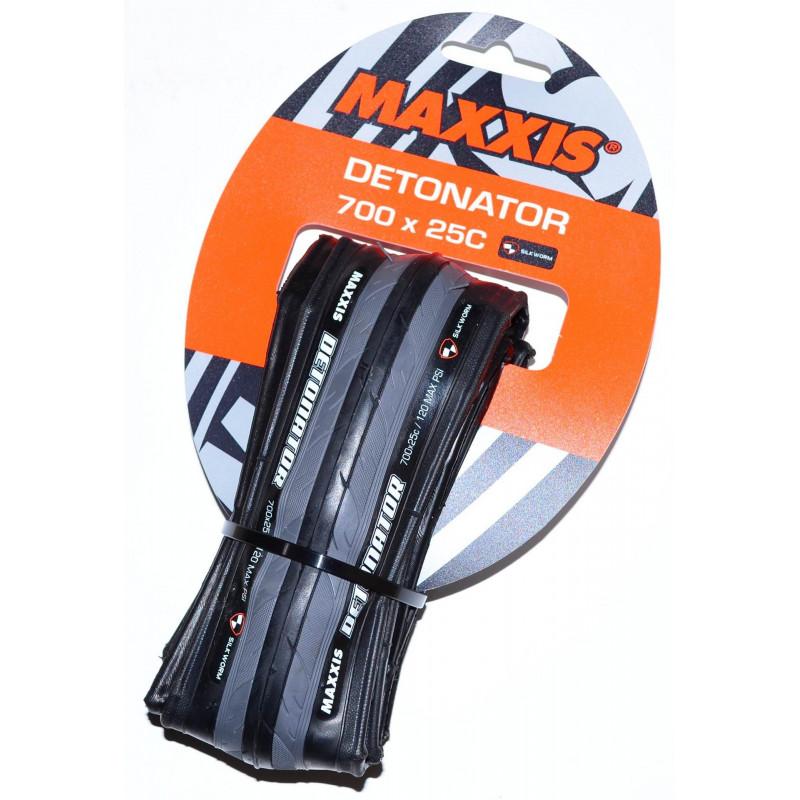 Покрышка Maxxis Detonator 700x25c фолдинговая (TB86367500) 60TPI черно-серая