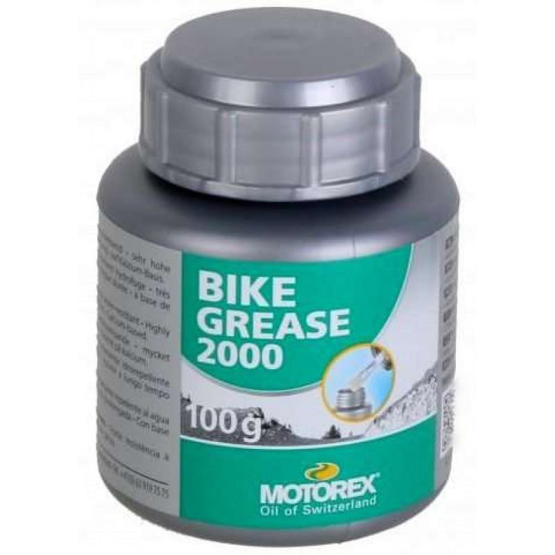 Смазка Motorex Bike Grease 2000 густая, от -30 до +120°С, зеленая, 100мл
