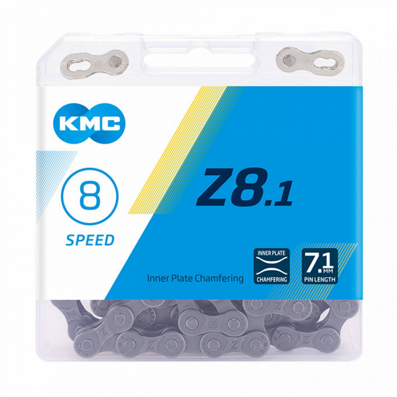 Цепь KMC Z8.1 8-ск. с замком 116 звеньев