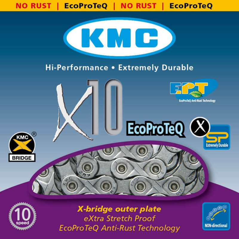 Цепь KMC X10 EPT 10-скоростная