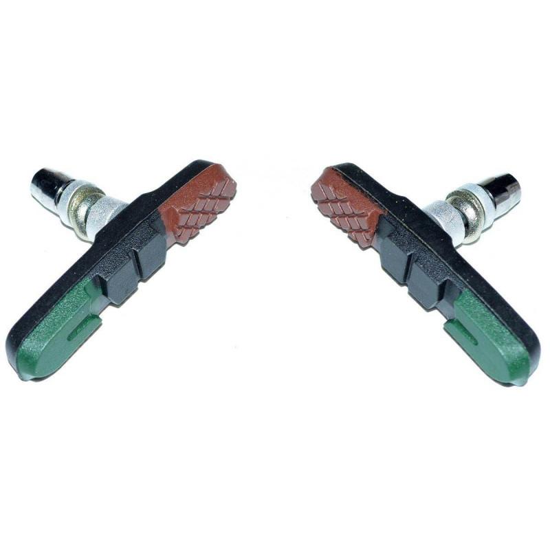 Колодки тормозные Alhonga HJ-748.13T3 72мм Triple color V-Brake