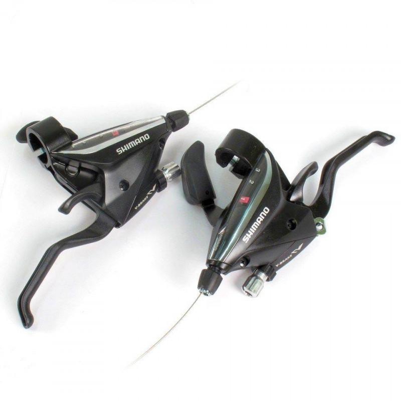 Моноблоки тормозная ручка шифтер Shimano ST-EF-65 3/7 черн комплект