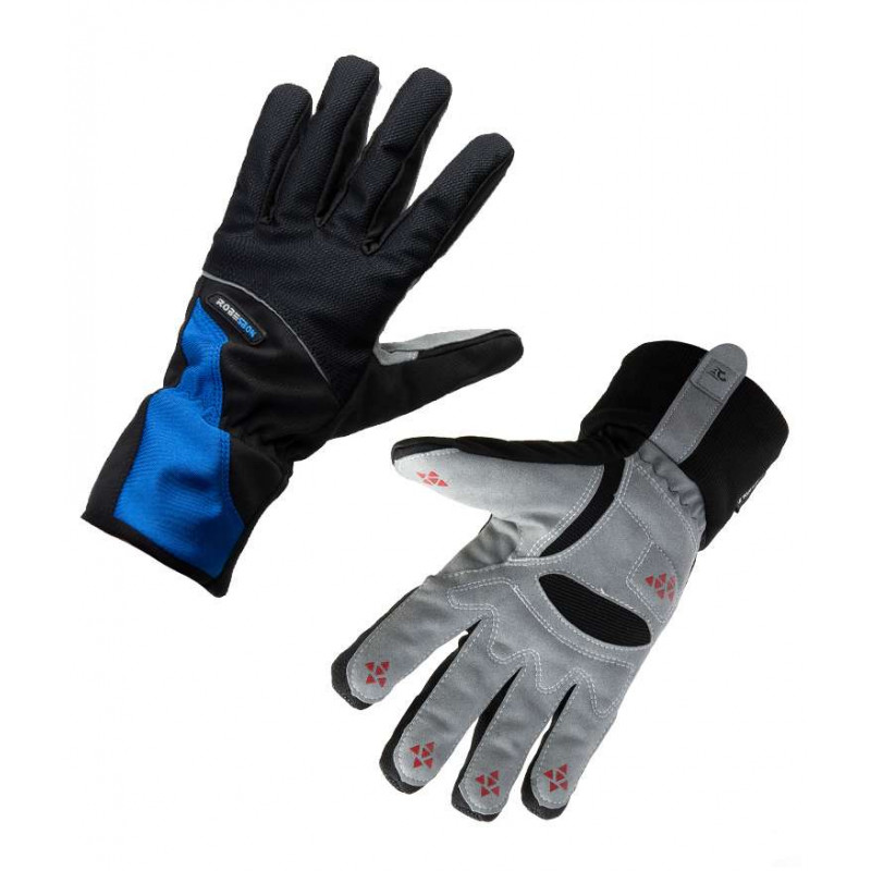 Велосипедные перчатки зимние Robesbon красные, синие