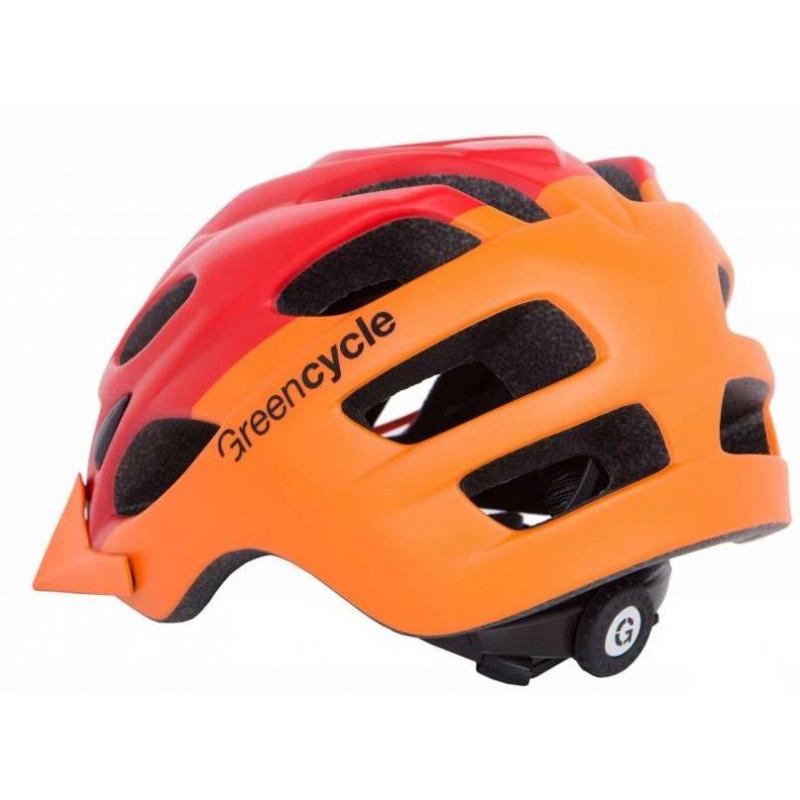 Шлем Green Cycle Enduro 54-58 58-61см  оранжево-красный