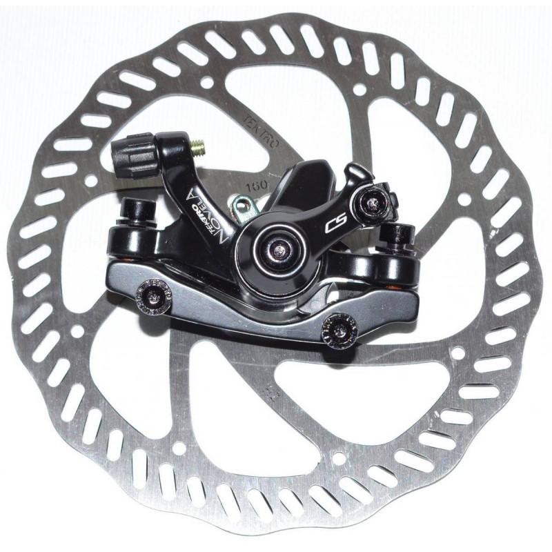 Тормоз дисковый Tektro Novela F160P/S ротор 160мм, черный