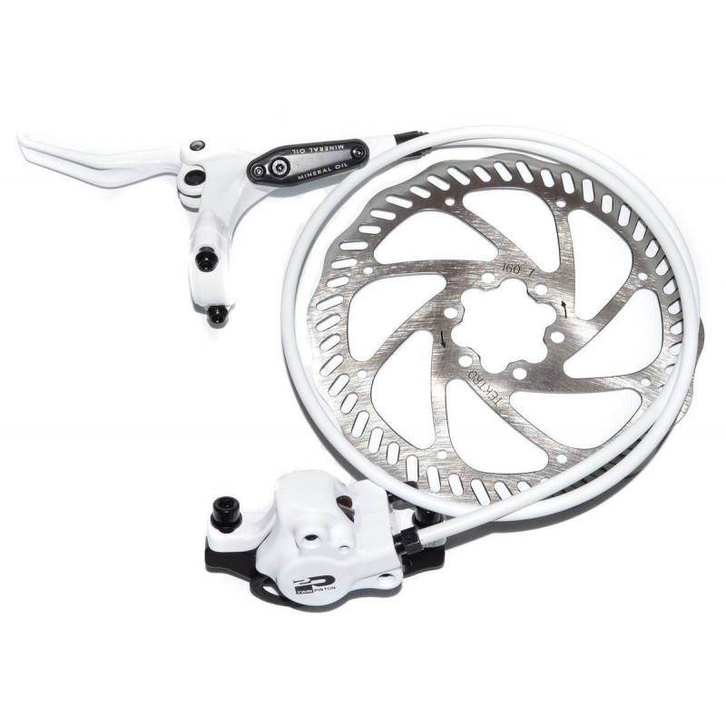 Тормоз гидравлический дисковый Tektro Draco2 передний 850мм F160P/S с ротором 160мм, белые