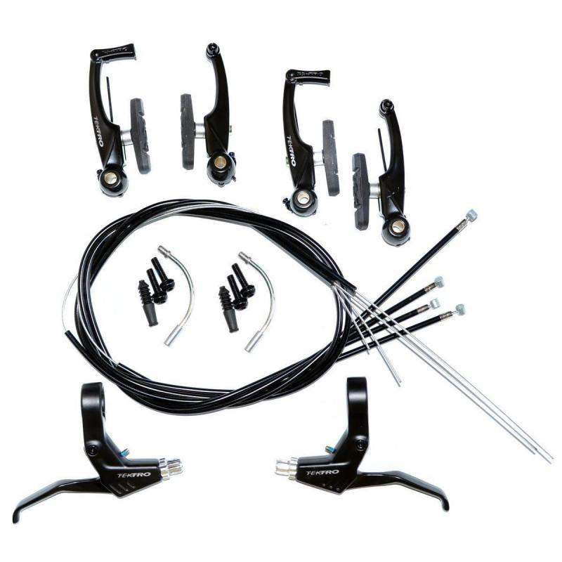 Тормоз Tektro V-br набор на 2 колеса ручки троса с рубашками